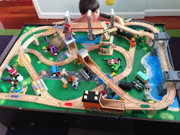 best toy train set layouts images on pinterest  toy trains