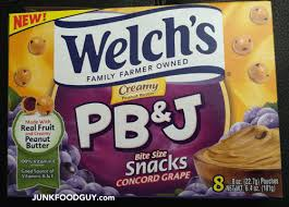 j and j snack food review new welchs concord grape creamy pb j snacks awkward