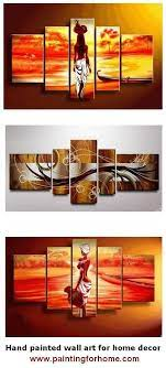 abstract art african girl painting