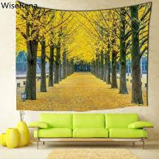 forest wall tapestry maples forest printing customized wall tapestry bedroom living room wall hanging tapestries home