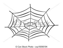 web drawing web and spider vector illustration drawing art of cartoon vector