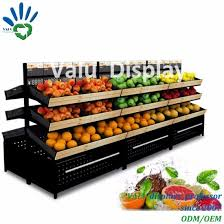Fruit And Veg Display Stands New China Supermarket Three Tiers Storage Display Stand Shelf Rack For