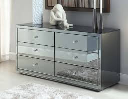 smoked mirrored furniture. Inspiring Mirrored Furniture Chest Of Drawers Your House Idea: Vegas Smoke 6 Drawer Dressing Smoked