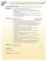 Loan Officer Resume Samples Mortgage Templates Commercial Template