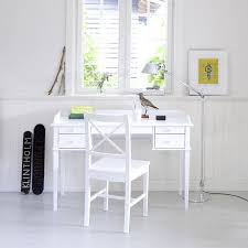child s white scandinavian style desk and chair