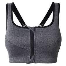 under armour zip front sports bra. women sexy zipper front sports bra super shockproof no rims running bras under armour zip