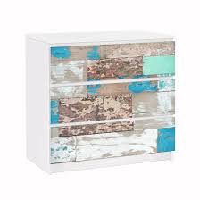 Möbelfolie Für Ikea Malm Kommode Klebefolie Maritime Planks