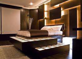 Modern Mansion Master Bedrooms Wall Panels Brown Wooden Panel Three
