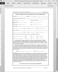 Criminal Record Template Employee Background Check Authorization Template