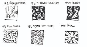 Zentangle Pattern Ideas Inspiration SIMPLE ZENTANGLE IDEAS TO INSPIRE YOU