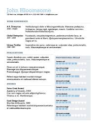 Professional Skills Resume Amazing 60 Contemporary Resume Templates [Free Download]