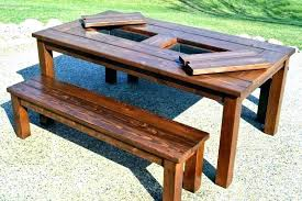 long outdoor dining table diy wood concrete top free plans large diy large outdoor dining table