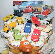 Amazoncom Disney Pixar Cars 3 Movie Deluxe Cake Toppers Cupcake