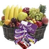 fruits and cadbury basket