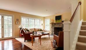living room example of a classic living room design in burlington with yellow walls bhg living rooms yellow