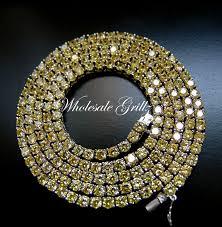 image is loading new 299 mens simulate yellow diamond necklace custom