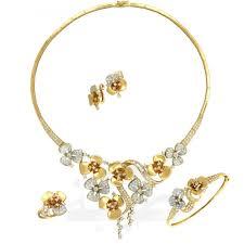 Dubai Gold Designs Catalogue Flower Set Gold Collection Taiba Dubai Gold Jewelry