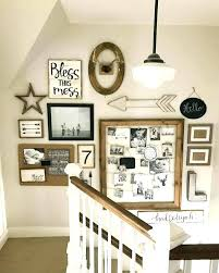 stair landing decor stairway decorating ideas bless this mess shabby chic stairwell wall under stairs decorating