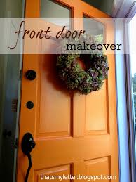Orange front door Feng Shui Front Door Makeover Zelinco Front Door Makeover Jaime Costiglio