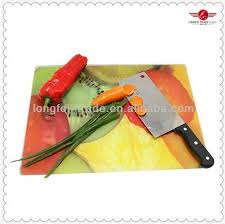 custom made tempered glass cutting boards with non slip mat