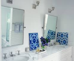 Decorating Bathroom Mirrors Stunning Brushed Nickel Bathroom Mirror Decorating Ideas Images In
