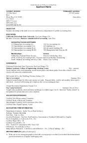 17 Accounting Resume Objective Samples Expert Scholarschair