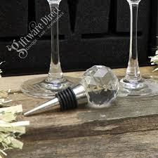 crystal wine stopper bottle stopper wedding favour