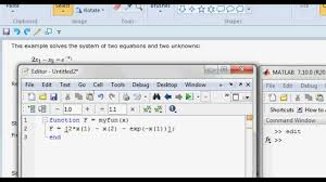 how to solve the non linear equations in matlab fsolve fval you