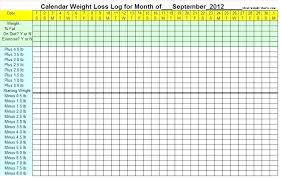 Weight Loss Log Images Record Template L Free Chart Covernostra Info