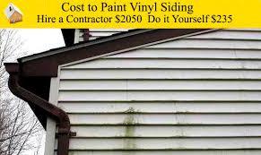 cost to paint vinyl siding