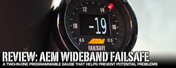 review aem wideband and boost failsafe gauge install dragzine as enthusiasts