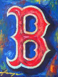 baseball painting boston red sox baseball by dan haraga on boston red sox canvas wall art with boston red sox baseball painting by dan haraga