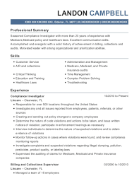 Investigator Resume Sample Best Of Best Compliance Investigator Resumes ResumeHelp