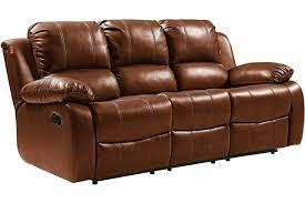 valencia genuine tan leather 3 seater