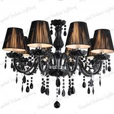 black 10 lampshades crystal chandelier