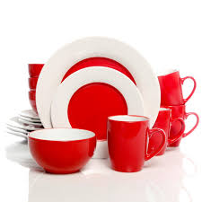 red black square dinnerware sets. full size of dinnerware:red white dinnerware sets red and black square set t