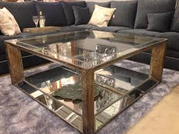 console monarch specialties mirrored end table