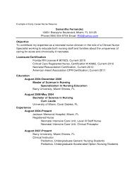 sample graduate nurse resume graduate nurse resume examples new graduate nursing resume template