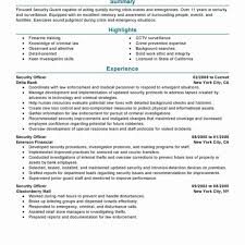 Security Guard Job Description For Resume Security Officer Resume Format Inspirational Security Guard Resume 4