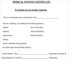 Medical Certificate Sample Fit To Work New Return To Work Form ...