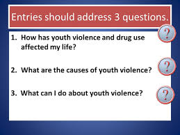 "essay contest what is it the ""do the write thing"" essay  entries should address 3 questions 1 how has youth violence and drug use affected"