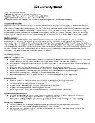 Sample Resume Director Of Development Non Profit New Non Profit