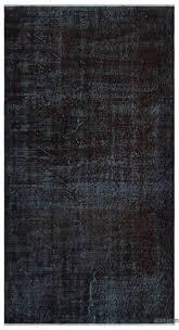 black over dyed turkish vintage rug 3 9 x 6
