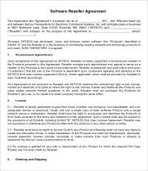 Reseller Agreement Template 9 Free Word Pdf Documents Download
