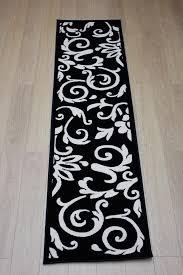 black and white rug runner designs