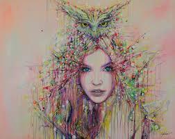 saatchi art artist lykke steenbach josephsen painting wisdom art