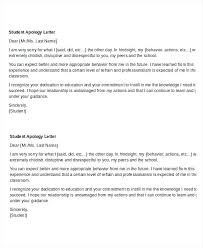 Apologize Business Letter Format Of Apologize Letter Student Apology Letter Template Sample