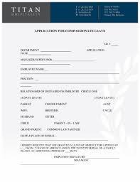 compionate leave form docx