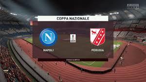 Napoli vs Perugia - calcio Coppa Nazionale Italia - FIFA 20