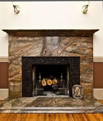 rainforest green granite fireplace